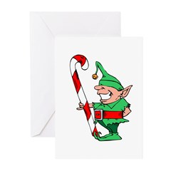 Cheesy Elf Christma Cards (Pk of 10)