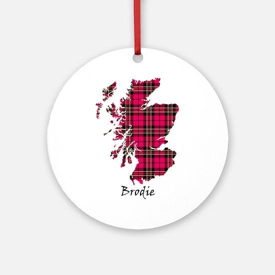 Map - Brodie Round Ornament