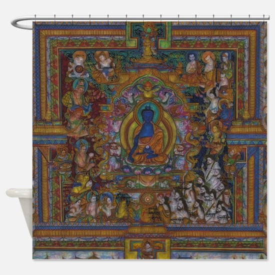 Cute Buddhism Shower Curtain