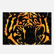 Orange Tiger Silhouette o Postcards (Package of 8)