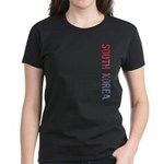 South Korea Stamp Women's Dark T-Shirt