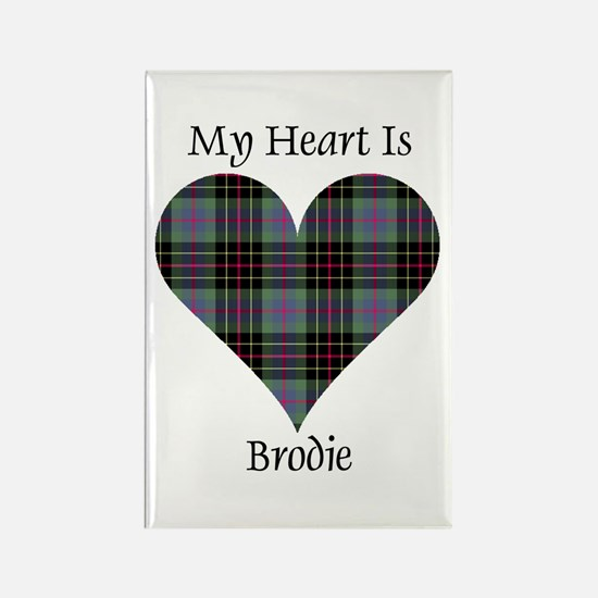 Heart - Brodie hunting Rectangle Magnet