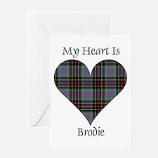 Heart - Brodie hunting Greeting Card