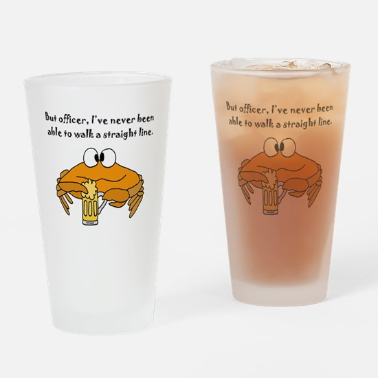 Funny Lined Drinking Glass