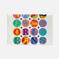 New Orleans Themes Magnets