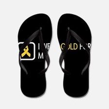 Childhood Cancer: Gold For My Son Flip Flops