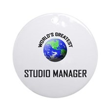 World's Greatest STUDIO MANAGER Ornament (Round)