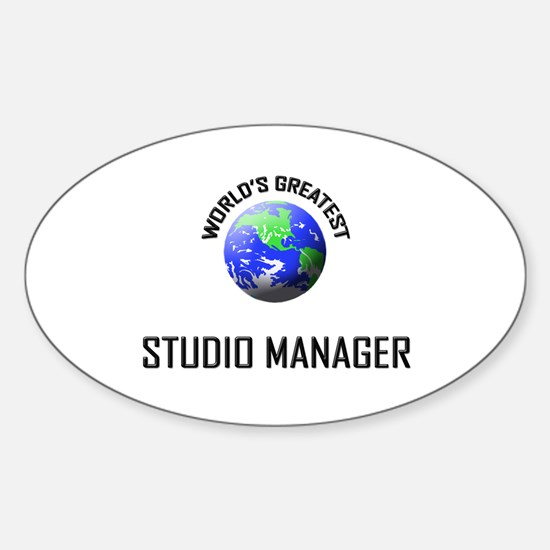 World's Greatest STUDIO MANAGER Oval Decal
