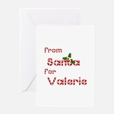 From Santa For Valerie Greeting Card
