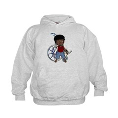 Keith Broken Rt Arm Kids Hoodie
