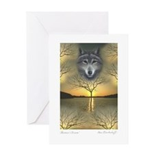 Wolf ~ 'Season's Greetings' Single Greeting Card