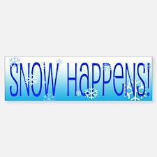 Snow Happens Bumper Bumper Sticker