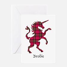 Unicorn - Brodie Greeting Card