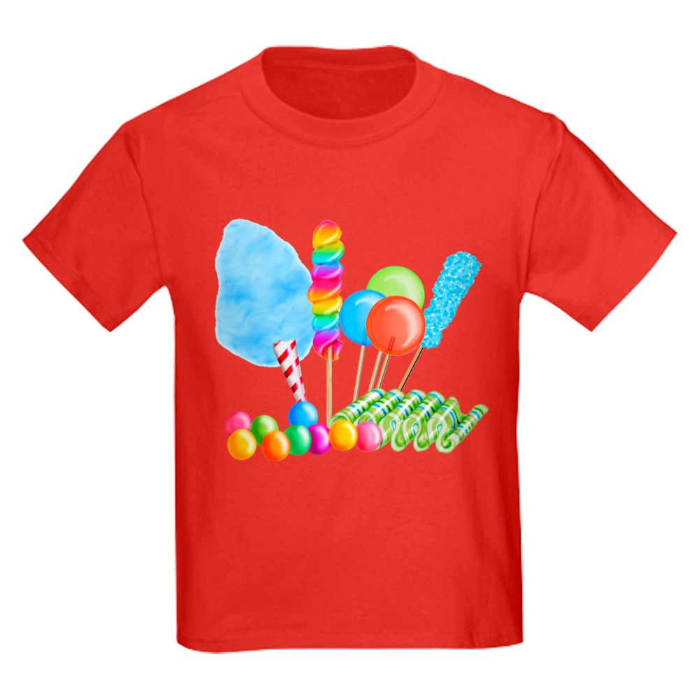 CafePress Candy Circus Boy T Shirt Kids Cotton T-shirt 1893968902