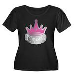 Princess Women's Plus Size Scoop Neck Dark T-Shirt