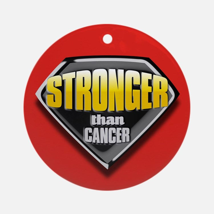 Stronger than cancer Ornament (Round)