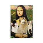 Mona / 3 Chihs Rectangle Magnet (10 pack)