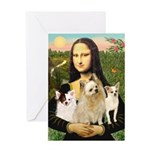 Mona / 3 Chihs Greeting Card