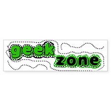 Geek Zone Bumper Bumper Sticker