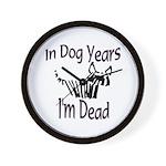 Dog Years Wall Clock