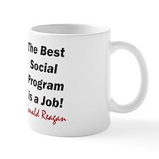 """Reagan: Get A Job!"" Small Mug"