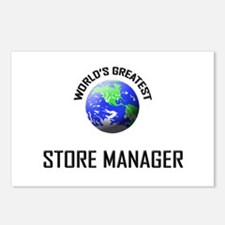 World's Greatest STORE MANAGER Postcards (Package