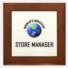 World's Greatest STORE MANAGER Framed Tile