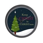 Keep Christ in Christmas Wall Clock