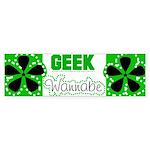geek Wannabe Bumper Sticker