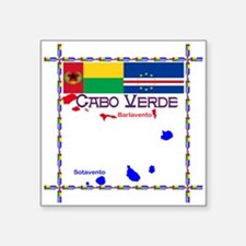 Cabo Verde Flags Sticker
