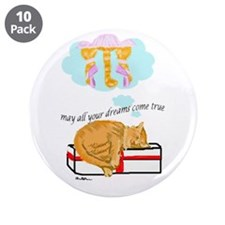 "Dreaming cat 3.5"" Button (10 pack)"