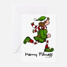 Merry Fitness II Greeting Cards (Pk of 20)