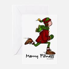 Merry fitness (man) Greeting Cards (Pk of 20)