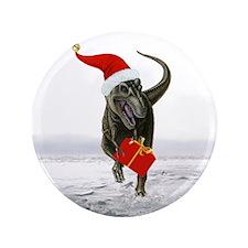 """'Santasaurus' T-Rex ~ 3.5"""" Button (100 pack)"""