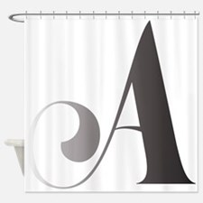 Cute Letter Shower Curtain