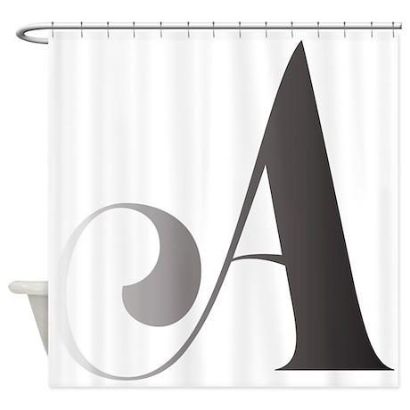 cute alphabet shower curtain