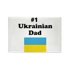 #1 Ukrainian Dad Rectangle Magnet