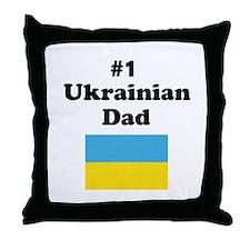 #1 Ukrainian Dad Throw Pillow