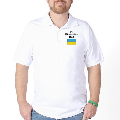 #1 Ukrainian Dad Golf Shirt