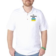 #1 Ukrainian Dad T-Shirt