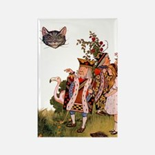 THE KING & THE CHESHIRE CAT Rectangle Magnet