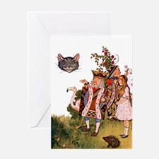 THE KING & THE CHESHIRE CAT Greeting Card