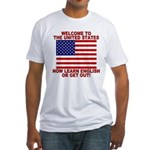 Learn English Or Leave Fitted T-Shirt