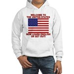 Learn English Or Leave Hooded Sweatshirt