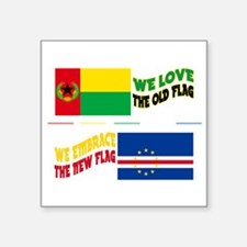 Cabo Verde Embrace Flags Sticker