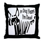 Dog Years Throw Pillow
