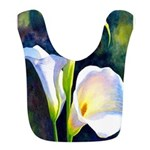 calla lilly art deco flower print Polyester Baby B
