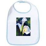 calla lilly art deco flower print Bib