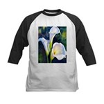calla lilly art deco flower print Baseball Jersey