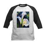 calla lilly art deco flower print Baseball Jersey
